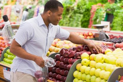 ESRD patient shopping for produce