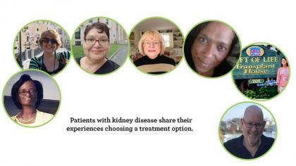 faces of kidney patients that contributed to the My Life My Choice booklet